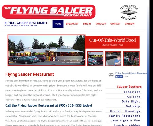 Flying Saucer Restaurant Niagara Falls