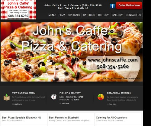 John's Caffe' Best Pizza Elizabeth NJ