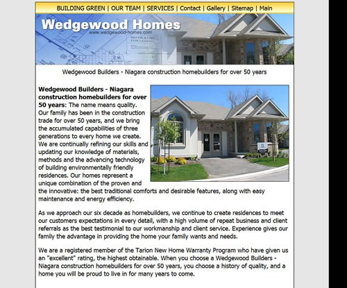 Wedgewood homes checksite websites seo for Wedgewood builders