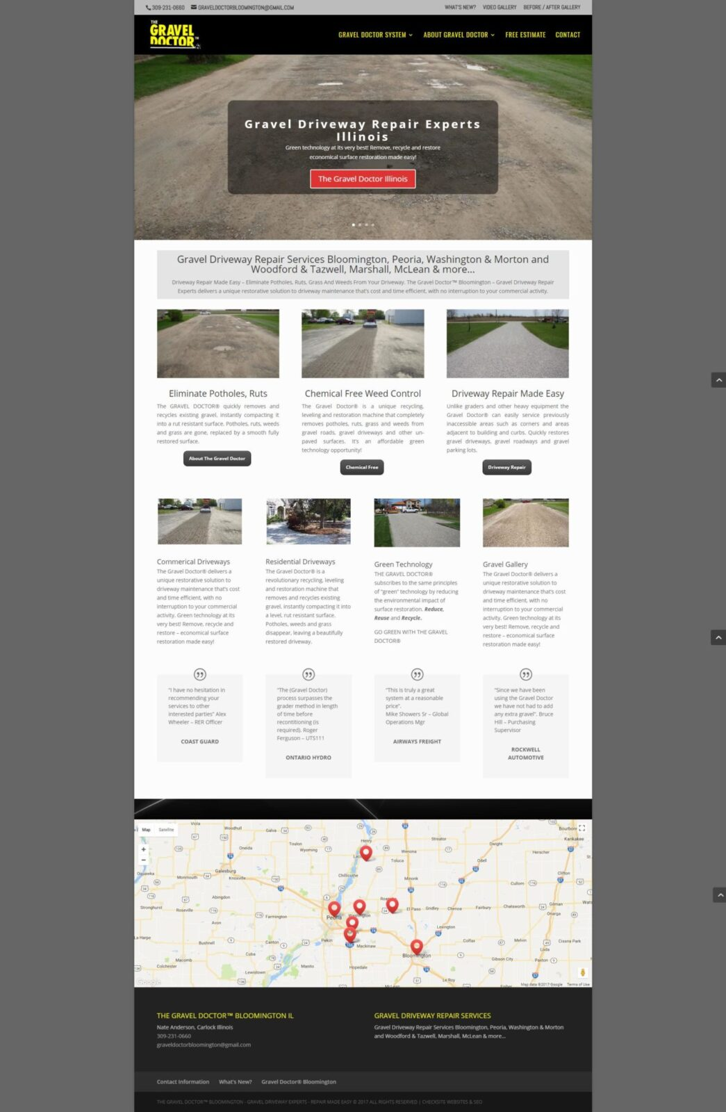 Gravel Driveway Repair Services Bloomington, Peoria, Washington & Morton and Woodford & Tazwell, Marshall, McLean & more…
